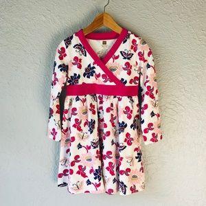 Tea Long Sleeve Butterfly Print Dress 3T